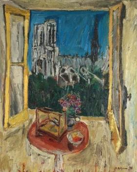 La finestra di oggi è una dolorosa veduta di Notre Dame Herbert Katzman, 1948